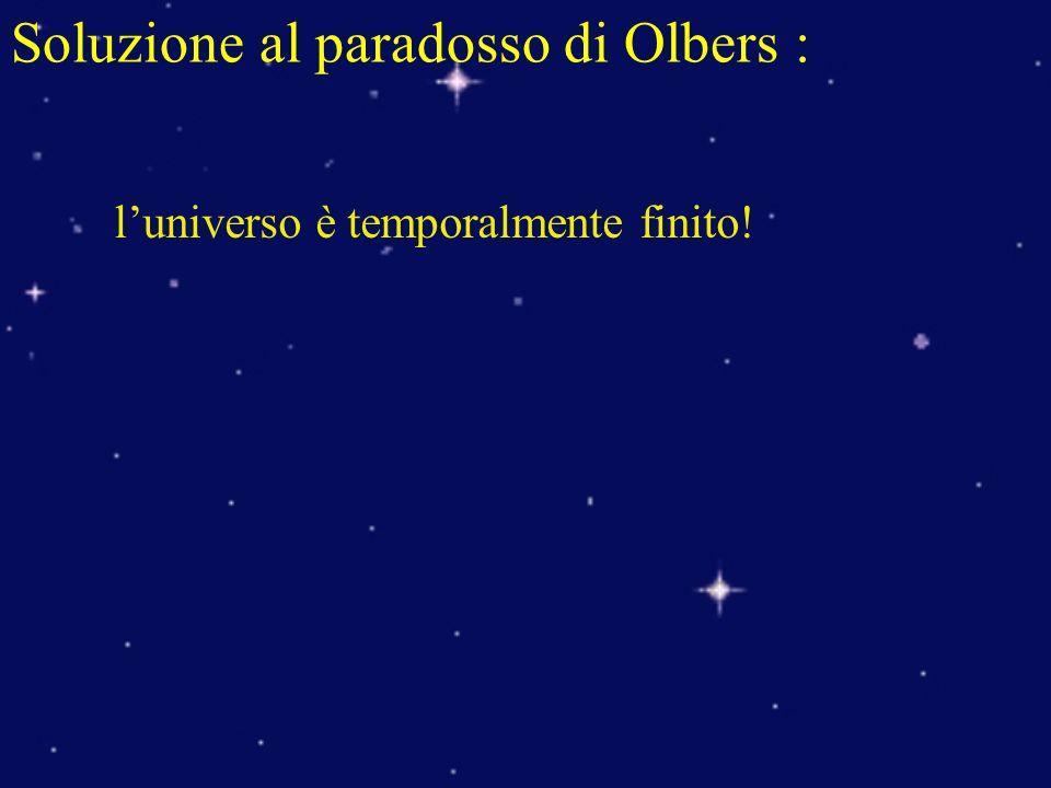 Soluzione al paradosso di Olbers : luniverso è temporalmente finito!