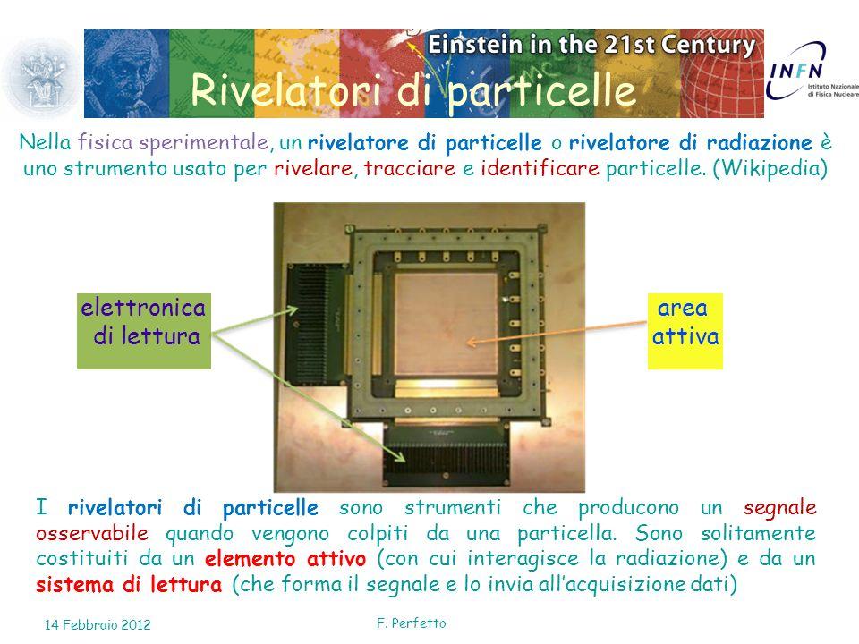 F. Perfetto Rivelatori di particelle Nella fisica sperimentale, un rivelatore di particelle o rivelatore di radiazione è uno strumento usato per rivel