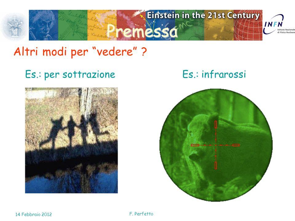 F. Perfetto Premessa Altri modi per vedere ? Es.: per sottrazioneEs.: infrarossi 14 Febbraio 2012