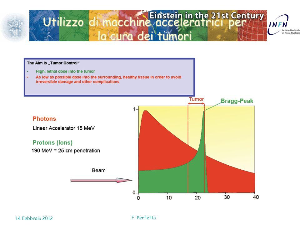 Utilizzo di macchine acceleratrici per la cura dei tumori 14 Febbraio 2012 F. Perfetto