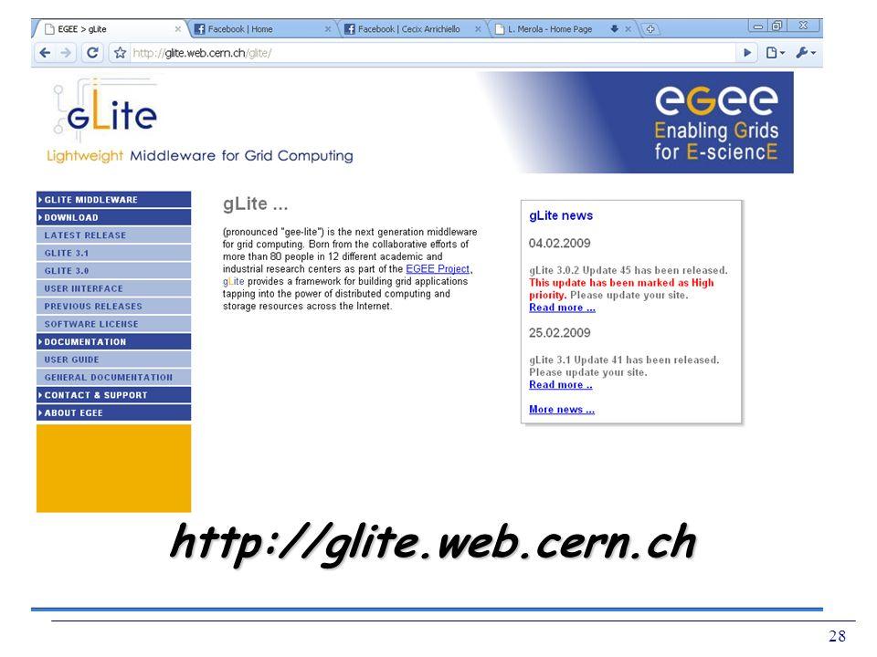 28 http://glite.web.cern.ch