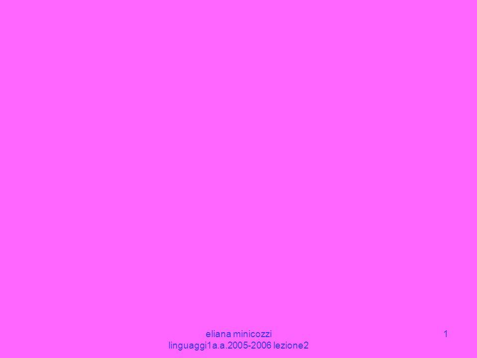 eliana minicozzi linguaggi1a.a.2005-2006 lezione2 1