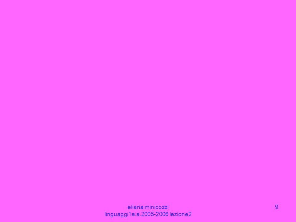 eliana minicozzi linguaggi1a.a.2005-2006 lezione2 9
