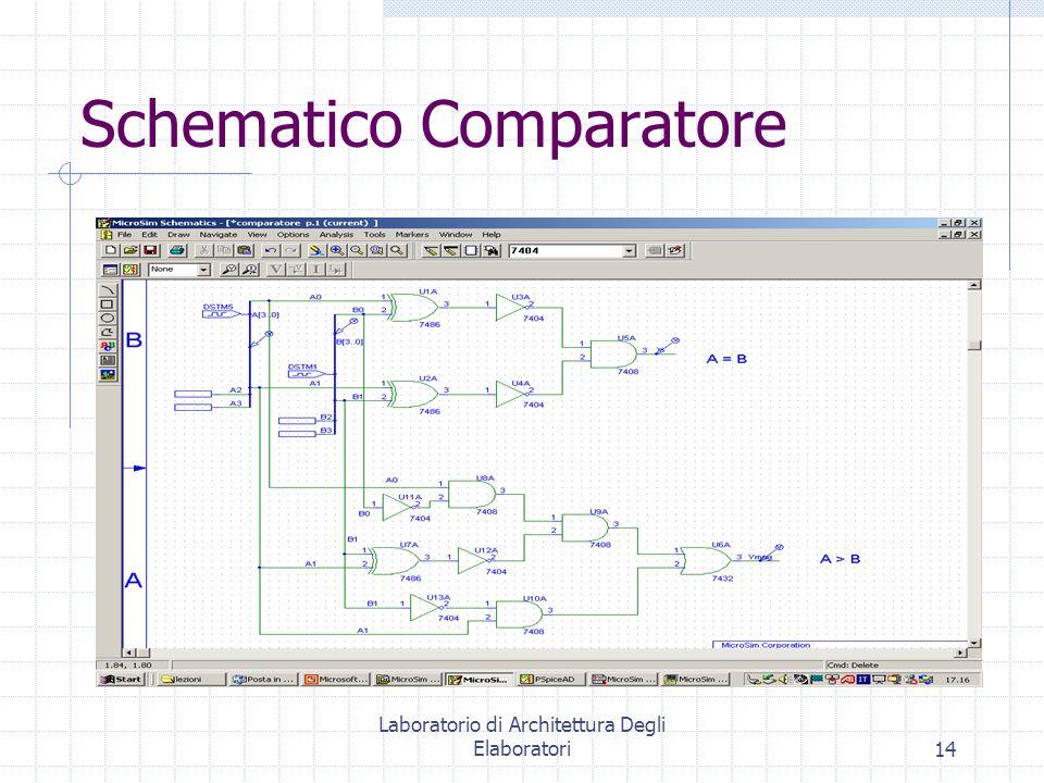 Laboratorio di Architettura Degli Elaboratori14 Schematico Comparatore