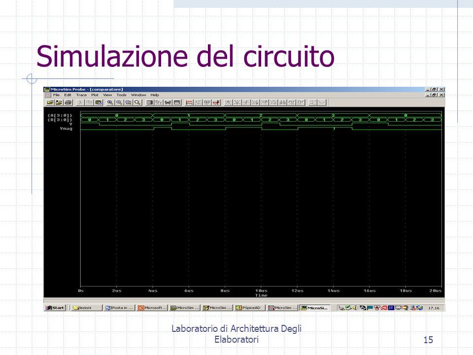 Laboratorio di Architettura Degli Elaboratori15 Simulazione del circuito
