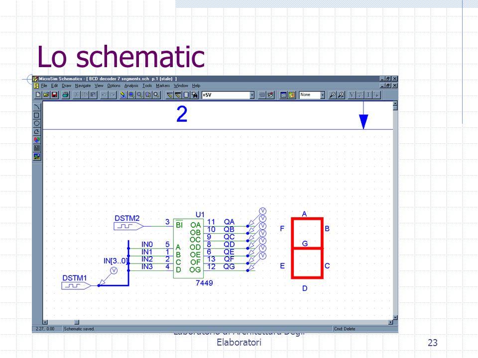 Laboratorio di Architettura Degli Elaboratori23 Lo schematic