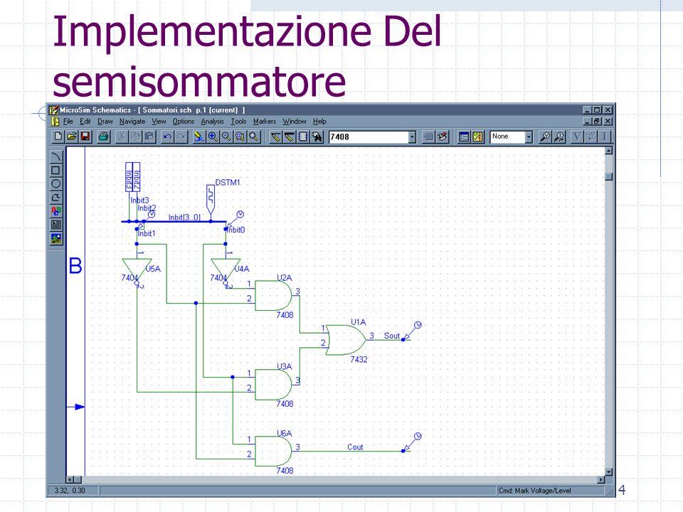 Laboratorio di Architettura Degli Elaboratori4 Implementazione Del semisommatore