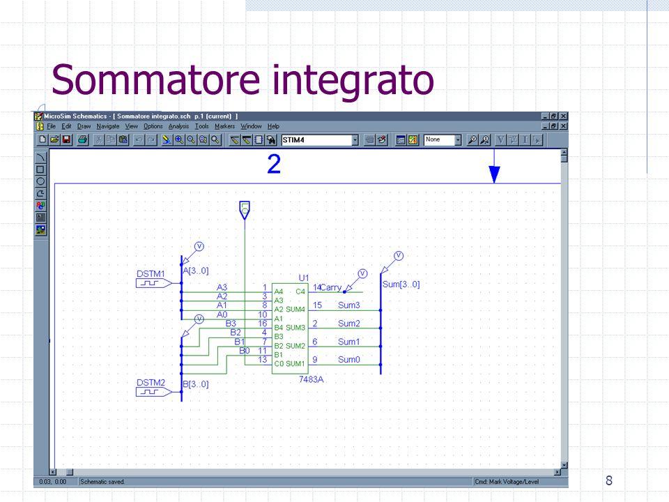 Laboratorio di Architettura Degli Elaboratori8 Sommatore integrato