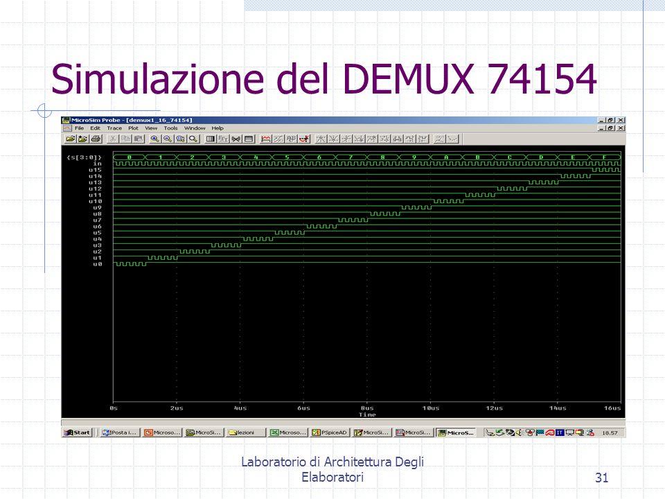 Laboratorio di Architettura Degli Elaboratori31 Simulazione del DEMUX 74154