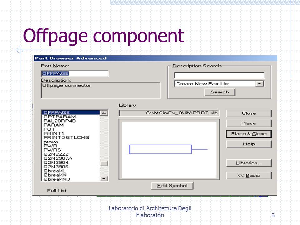 Laboratorio di Architettura Degli Elaboratori6 Offpage component