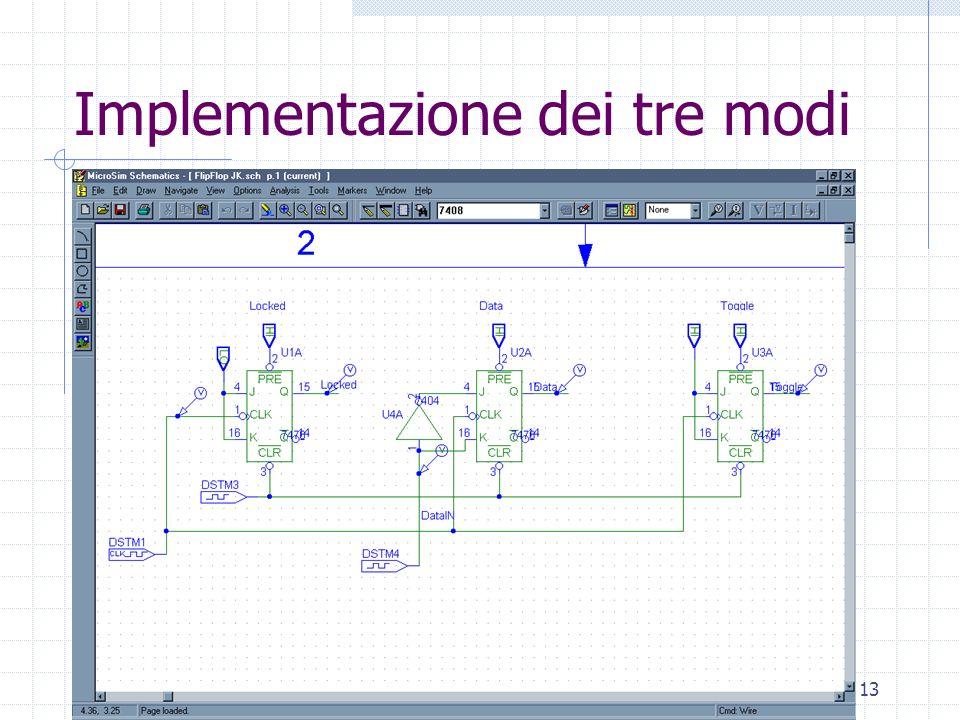 Laboratorio di Architettura Degli Elaboratori13 Implementazione dei tre modi