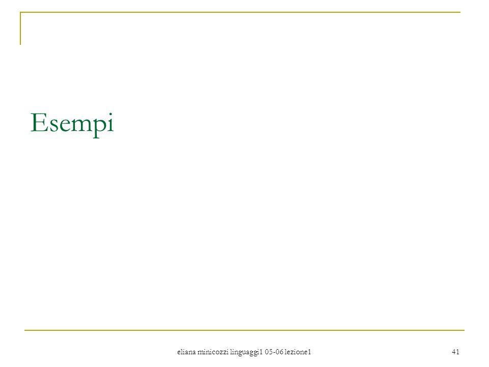 eliana minicozzi linguaggi1 05-06 lezione1 41 Esempi