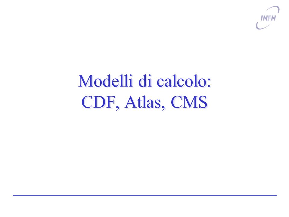 Luca Lista, INFN9 Volume di dati di CDF ~ 2 ~ 5.5 ~ 9 ~ 20 ~ 23 Estimated CPU needs Collected Data 30 mA/hr 25 mA/hr 20 mA/hr 15 mA/hr Integrated Luminosity (fb -1 ) ) By FY07: Double data up to FY06 By FY09: Double data up to FY07 9 8 7 6 5 4 3 2 1 0 9/30/03 9/30/04 9/30/05 9/30/06 9/30/07 9/30/08 9/30/09 oggi