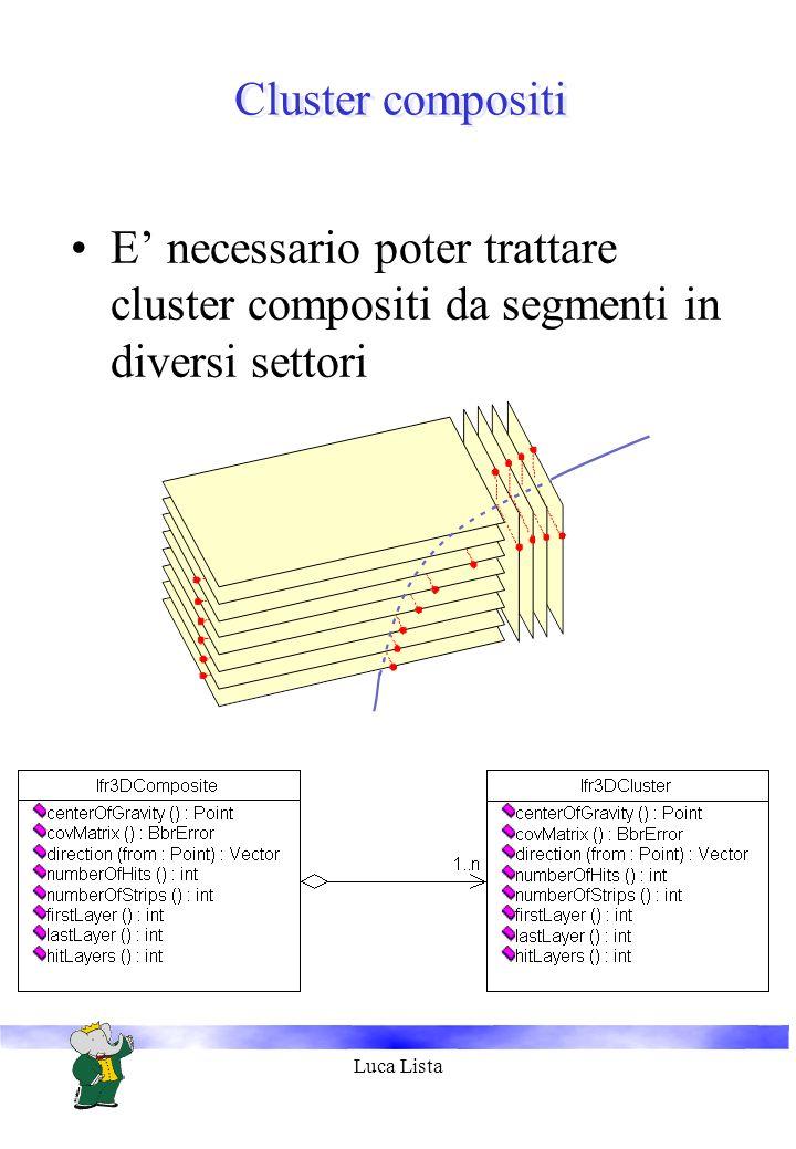 Luca Lista Cluster compositi E necessario poter trattare cluster compositi da segmenti in diversi settori