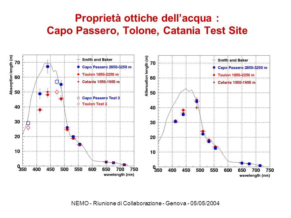 NEMO - Riunione di Collaborazione - Genova - 05/05/2004 DEWAS Nel meeting di Dicembre Catia Petta vi ha aggiornato sulla situazione di DEWAS.