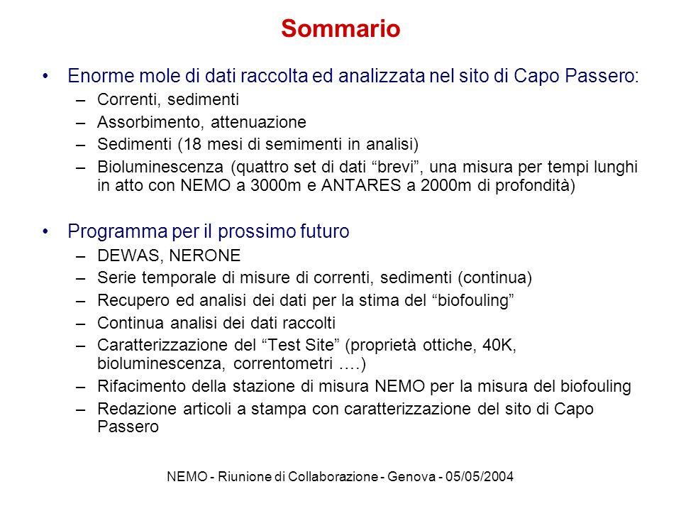 NEMO - Riunione di Collaborazione - Genova - 05/05/2004 Effetto del taglio sul PMT p.h.