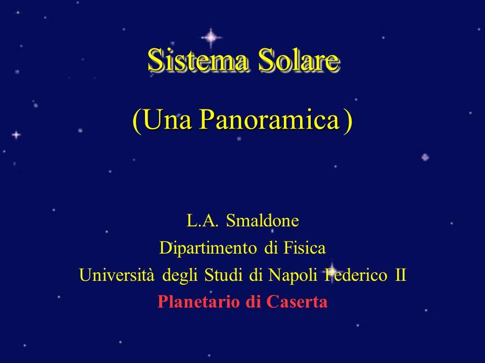 L.A. Smaldone Dipartimento di Fisica Università degli Studi di Napoli Federico II Planetario di Caserta Sistema Solare Una Panoramica (Una Panoramica