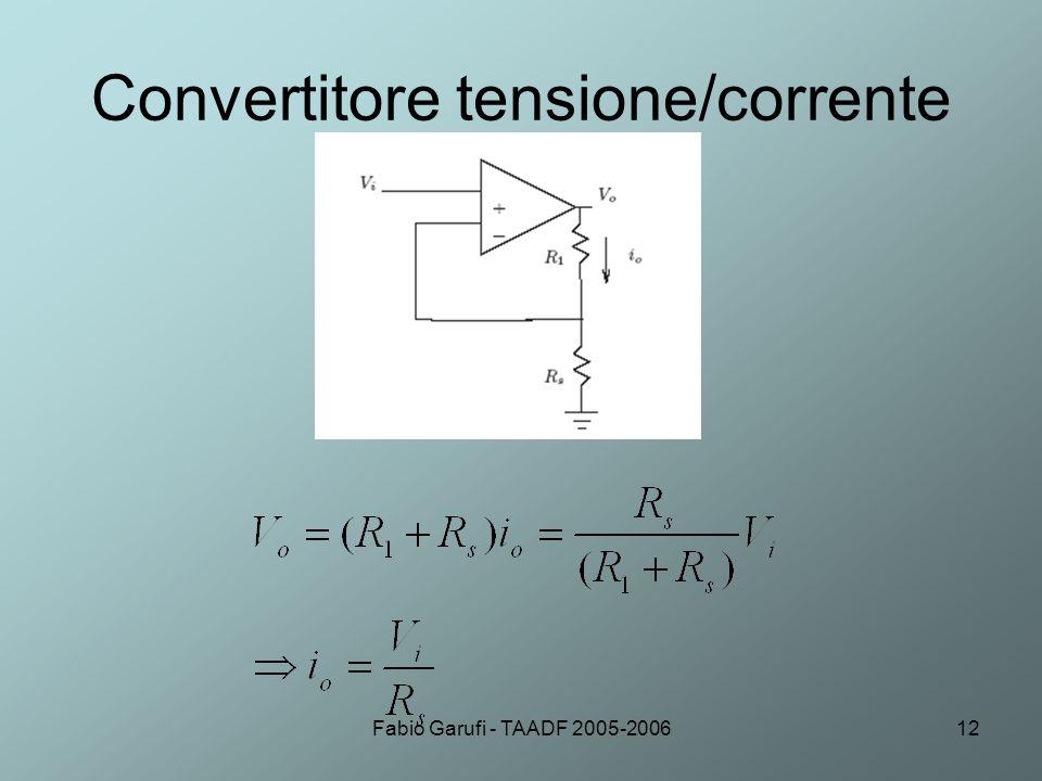 Fabio Garufi - TAADF 2005-200612 Convertitore tensione/corrente