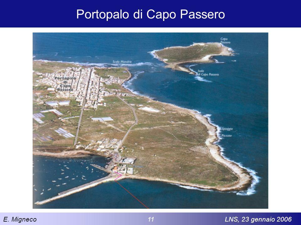 E. Migneco 11LNS, 23 gennaio 2006 Portopalo di Capo Passero