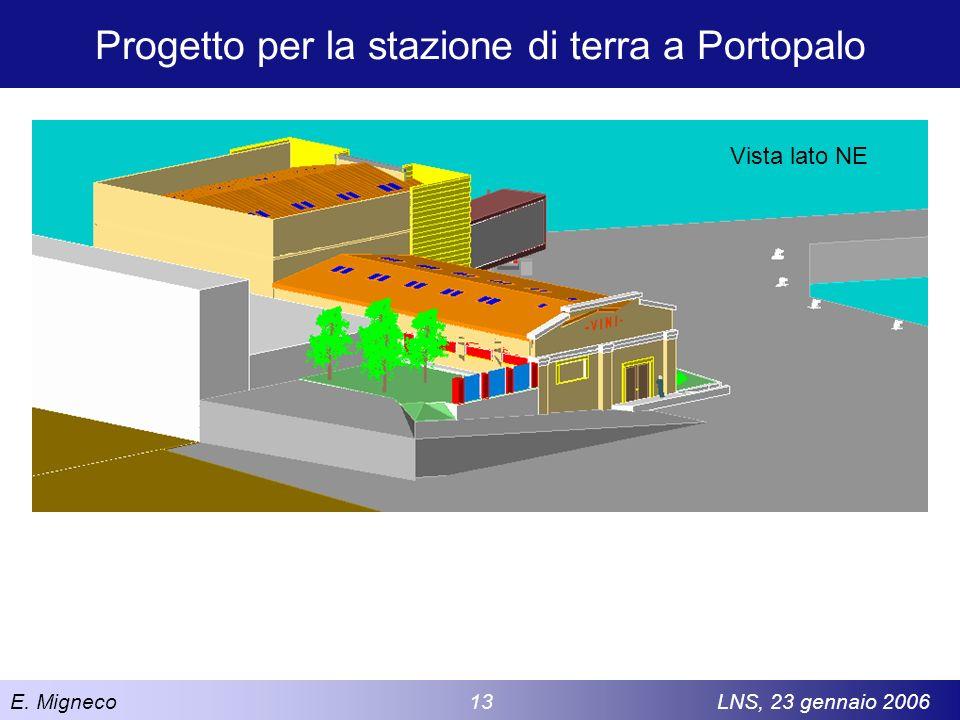 E. Migneco 13LNS, 23 gennaio 2006 Progetto per la stazione di terra a Portopalo Vista lato NE
