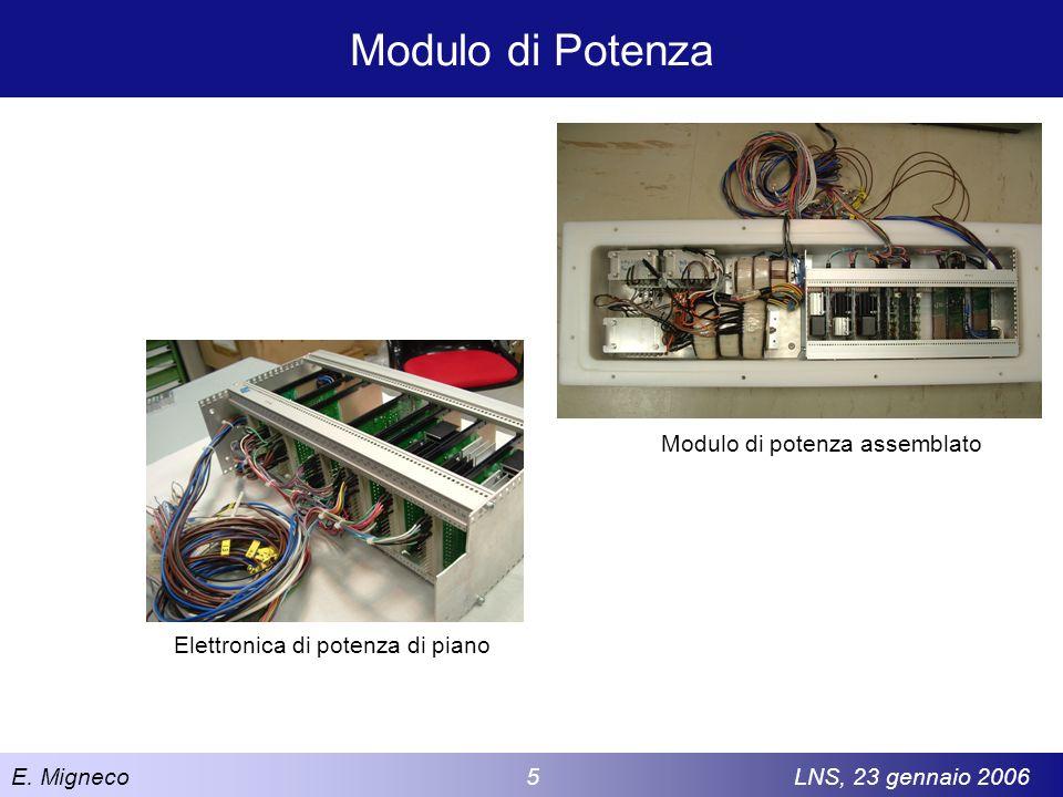 E. Migneco 5LNS, 23 gennaio 2006 Modulo di Potenza Modulo di potenza assemblato Elettronica di potenza di piano