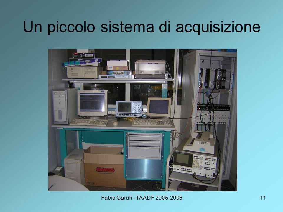 Fabio Garufi - TAADF 2005-200611 Un piccolo sistema di acquisizione