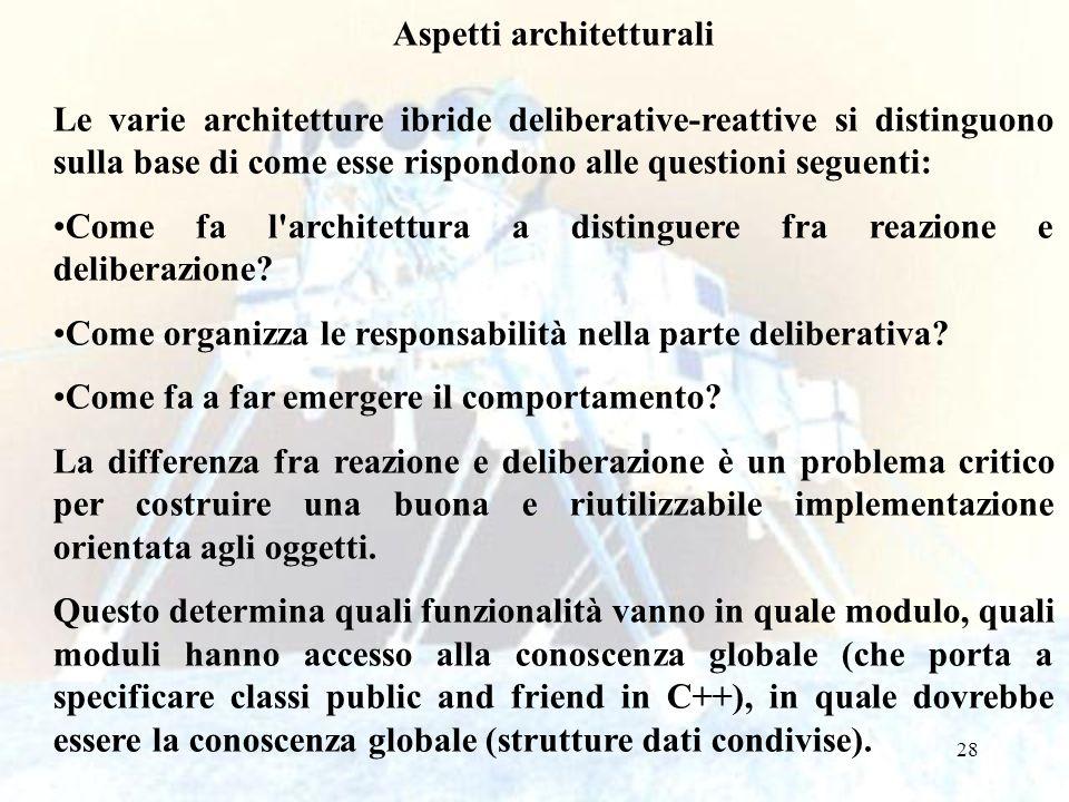 29 Analogamente è importante suddividere la parte deliberativa in moduli o oggetti.