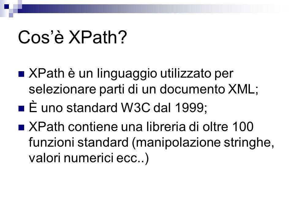 Cosè XPath.