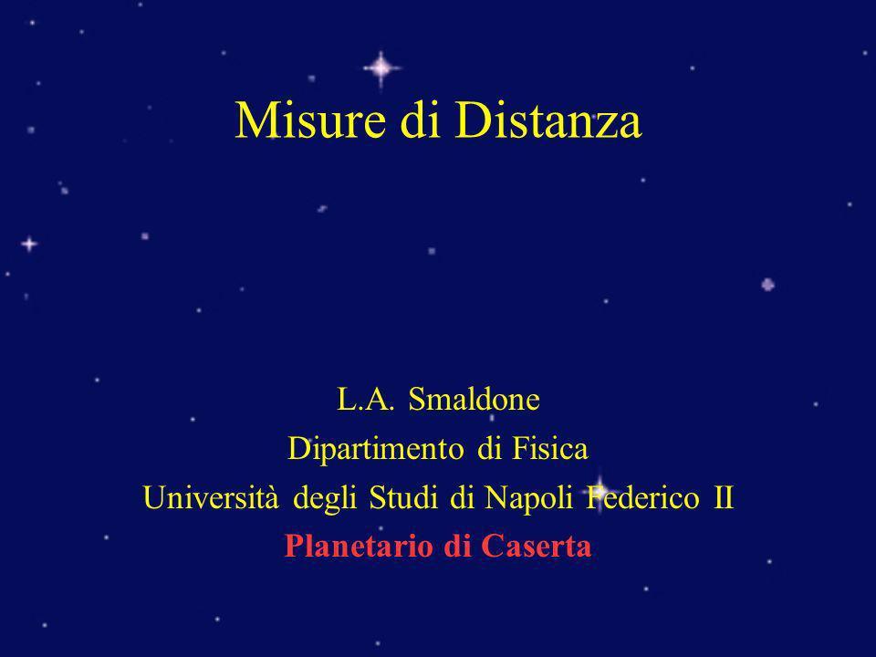 L.A. Smaldone Dipartimento di Fisica Università degli Studi di Napoli Federico II Planetario di Caserta Misure di Distanza
