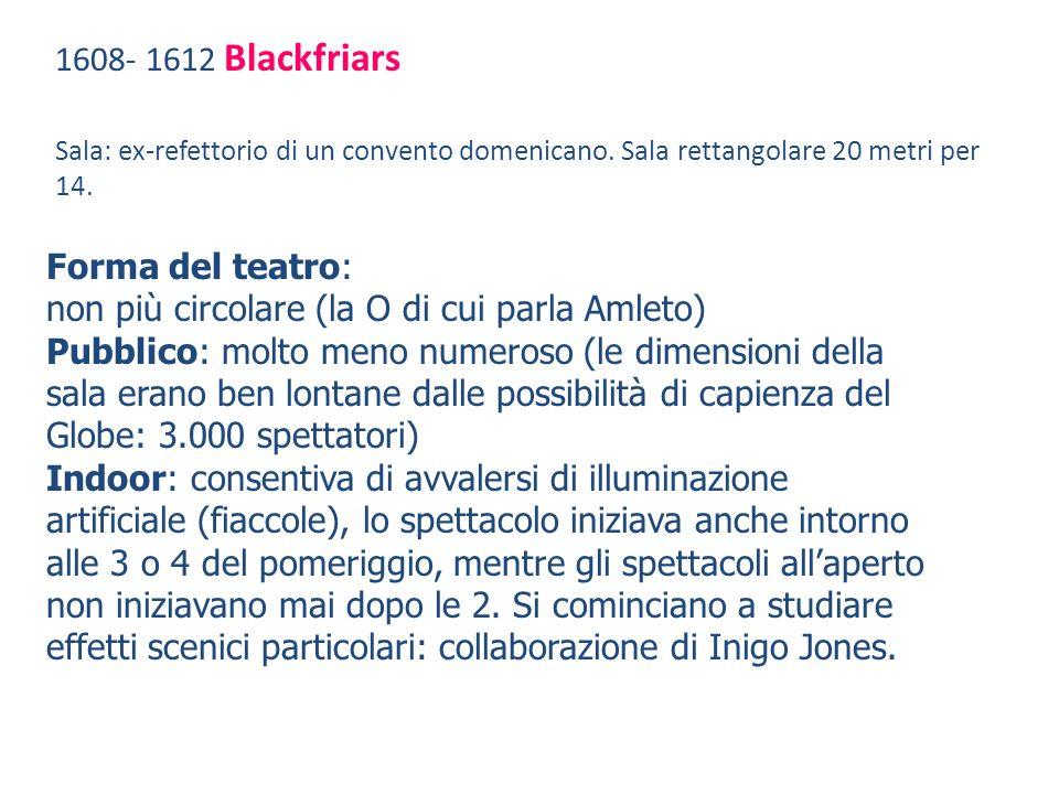 1608- 1612 Blackfriars Sala: ex-refettorio di un convento domenicano.