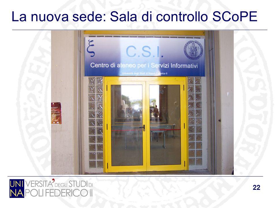 22 La nuova sede: Sala di controllo SCoPE