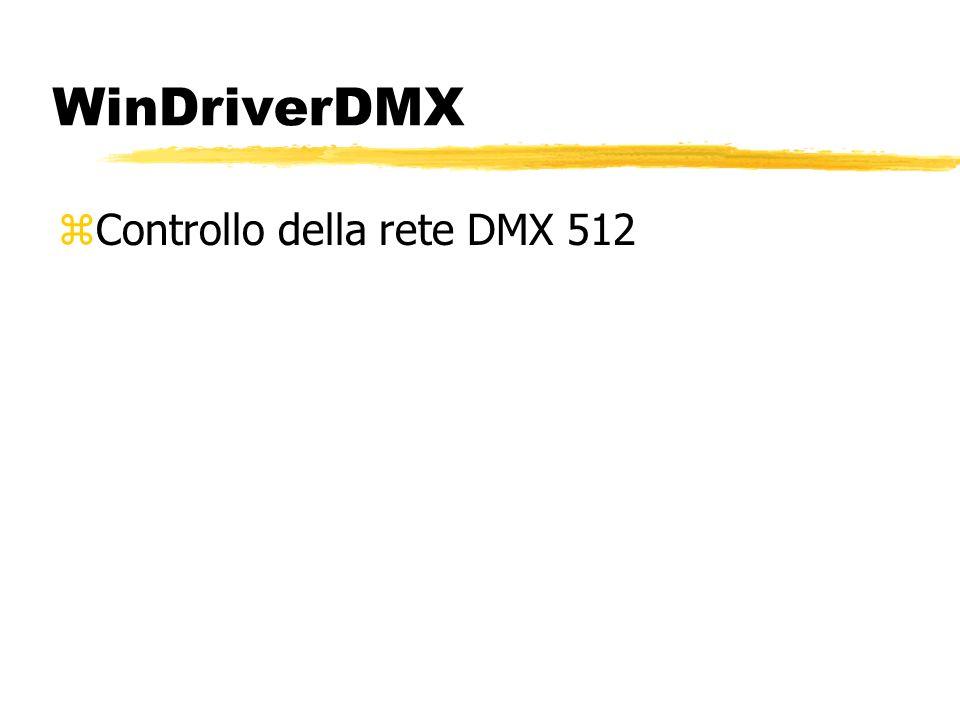 WinDriverDMX zControllo della rete DMX 512