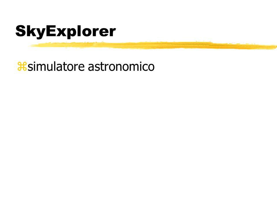 SkyExplorer zsimulatore astronomico