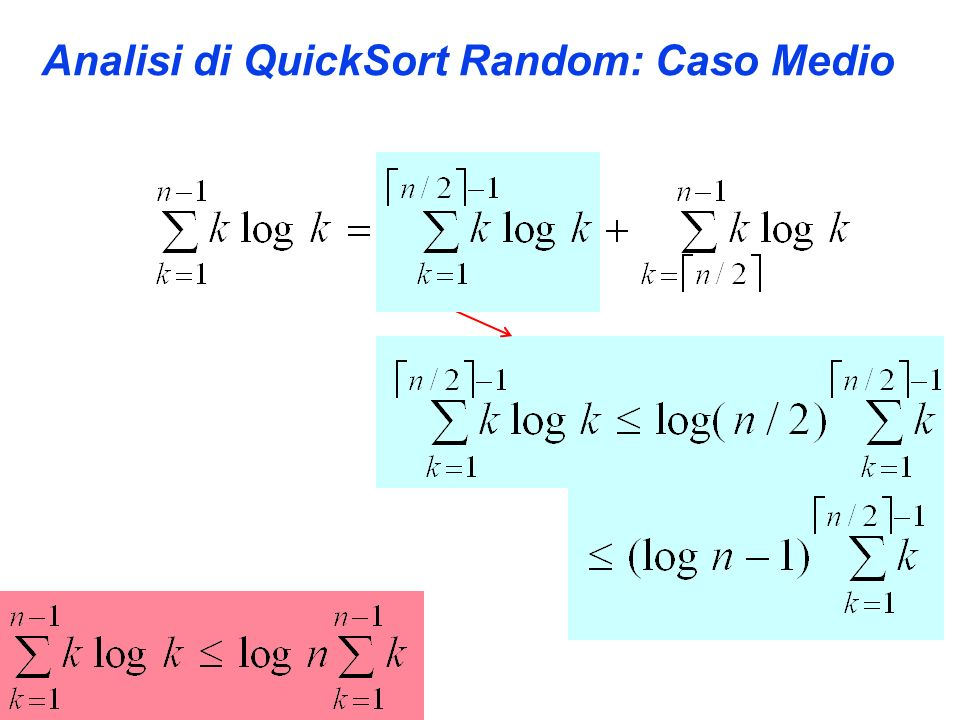 Analisi di QuickSort Random: Caso Medio