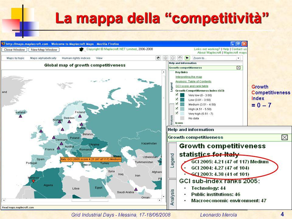 Grid Industrial Days - Messina, 17-18/06/2008 Leonardo Merola 25 Le Regioni Obiettivo 2007-2013 Convergenza (CONV) (in ritardo di sviluppo) Phasing Out (out da CONV, gode del Sostegno Transitorio) Phasing In (in CRO) Competività Regionale e Occupazione (CRO) Ph IN Ph OUT
