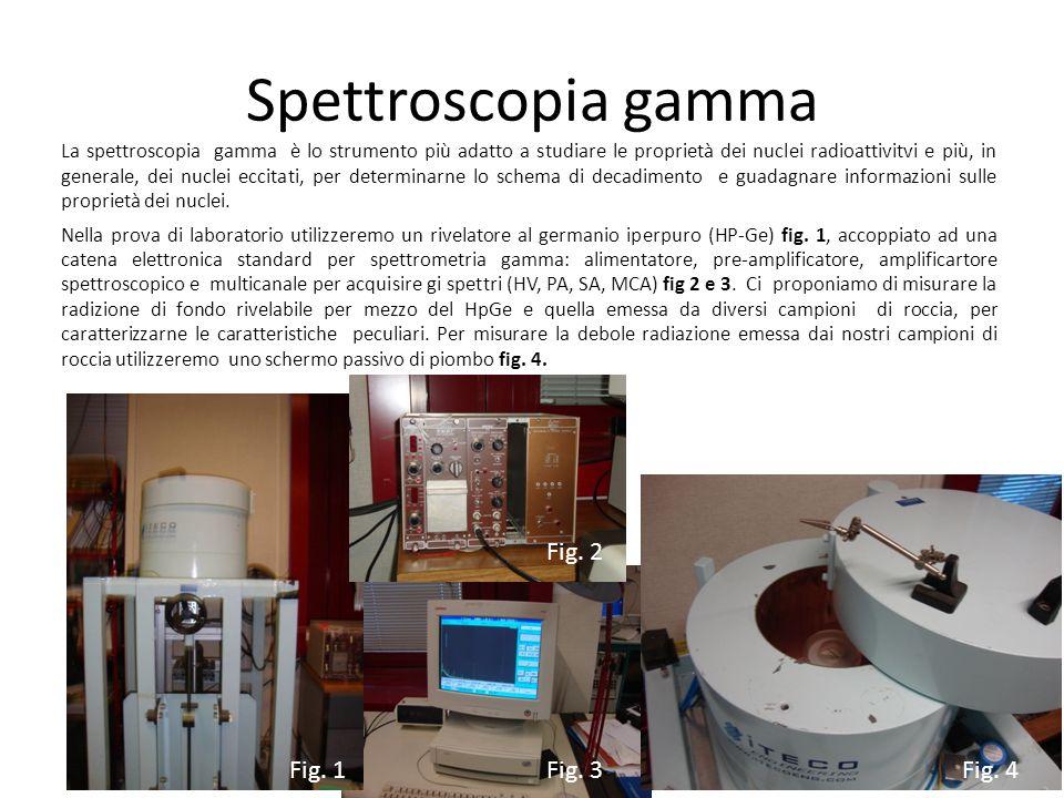 Spettroscopia gamma La spettroscopia gamma è lo strumento più adatto a studiare le proprietà dei nuclei radioattivitvi e più, in generale, dei nuclei