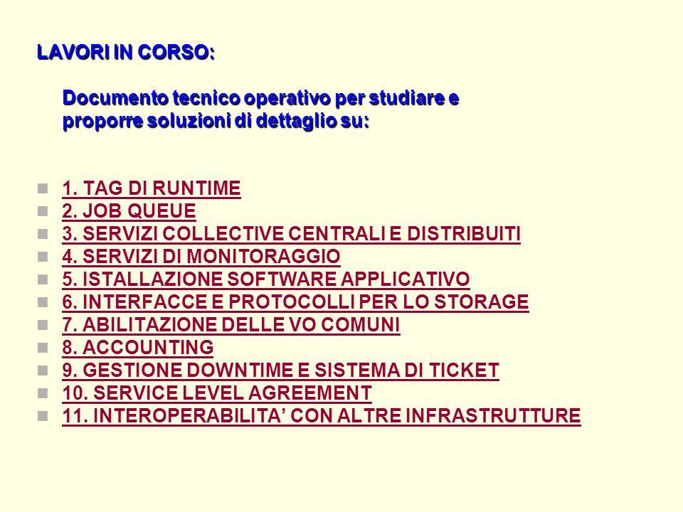 LAVORI IN CORSO: Documento tecnico operativo per studiare e proporre soluzioni di dettaglio su: 1.