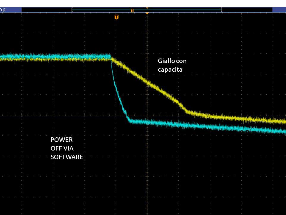 POWER OFF VIA SOFTWARE Giallo con capacita Ho collegato ad un crate la box e allaltro no e testato I due tipi di spegnim ento simultan eamente.