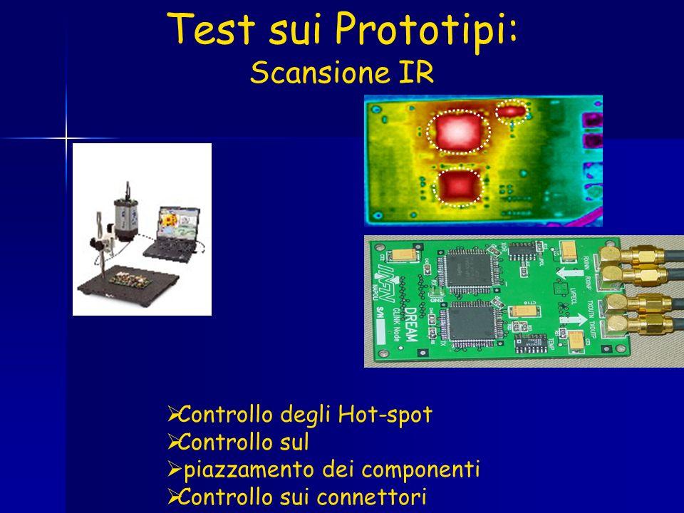 Test sui Prototipi: Scansione IR Controllo degli Hot-spot Controllo sul piazzamento dei componenti Controllo sui connettori