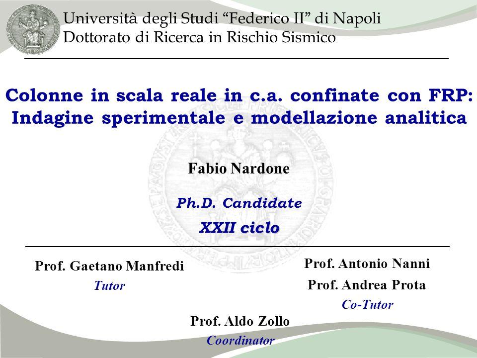 Introduzione Campagna sperimentale Confronto teorico- sperimentale Confronto nomativo- sperimentale Proposte e Conclusioni Fabio Nardone