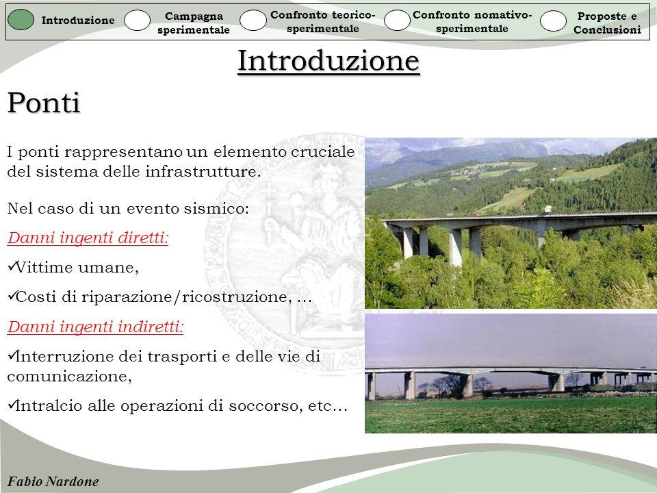 Introduzione Campagna sperimentale Confronto teorico- sperimentale Confronto nomativo- sperimentale Proposte e Conclusioni Fabio Nardone ACI 318-63 (1999)