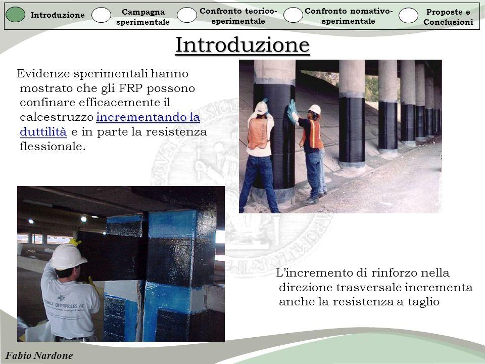 Introduzione Introduzione Campagna sperimentale Confronto teorico- sperimentale Confronto nomativo- sperimentale Proposte e Conclusioni Fabio Nardone