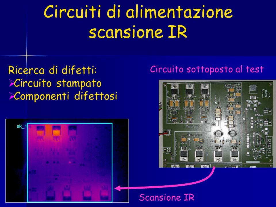 Circuiti di alimentazione scansione IR Circuito sottoposto al test Scansione IR Ricerca di difetti: Circuito stampato Componenti difettosi