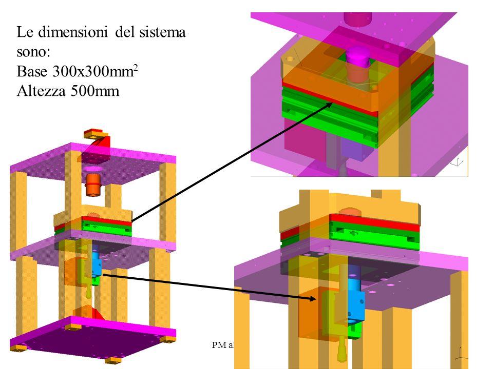 PM al CDS 07 05 Le dimensioni del sistema sono: Base 300x300mm 2 Altezza 500mm