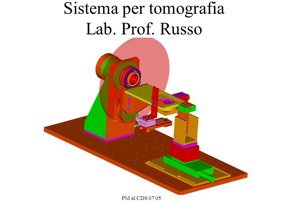 PM al CDS 07 05 Sistema per tomografia Lab. Prof. Russo