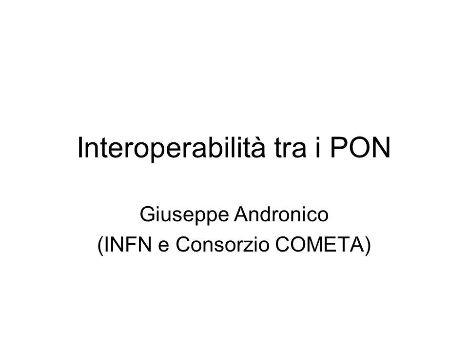 Interoperabilità tra i PON Giuseppe Andronico (INFN e Consorzio COMETA)