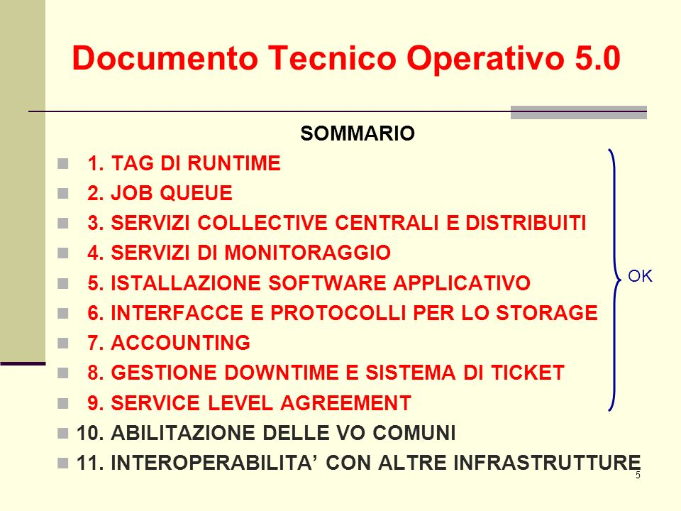 5 SOMMARIO 1. TAG DI RUNTIME 2. JOB QUEUE 3. SERVIZI COLLECTIVE CENTRALI E DISTRIBUITI 4.