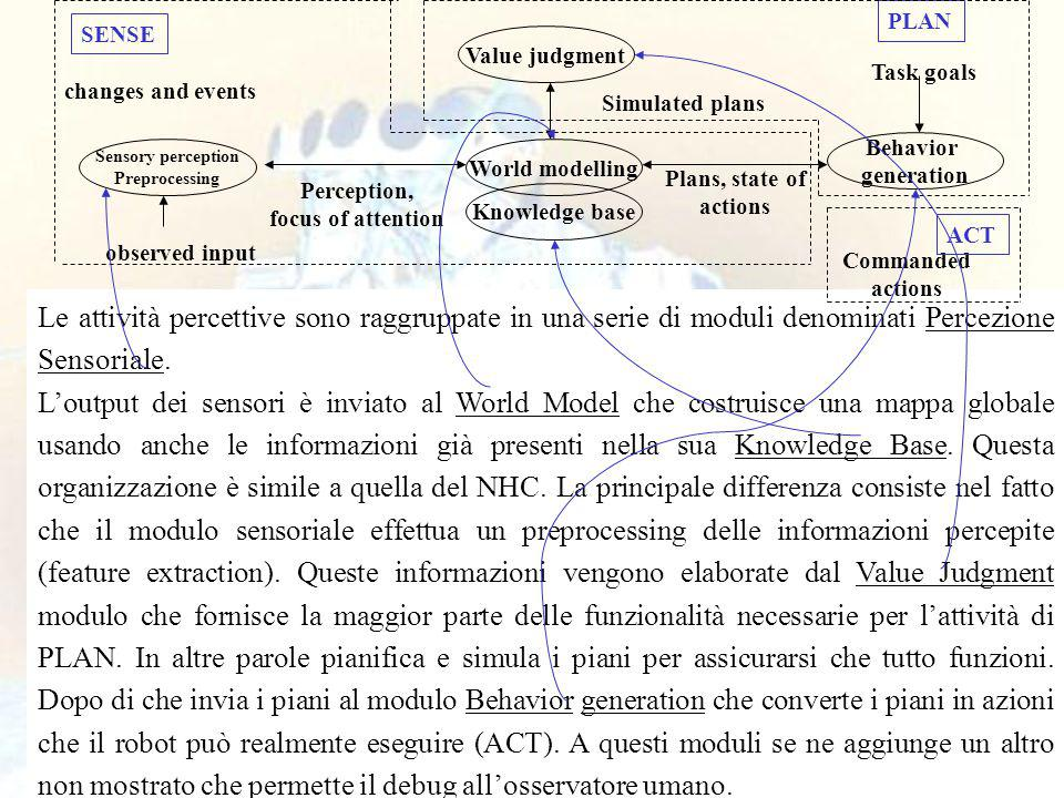 51 Le attività percettive sono raggruppate in una serie di moduli denominati Percezione Sensoriale.