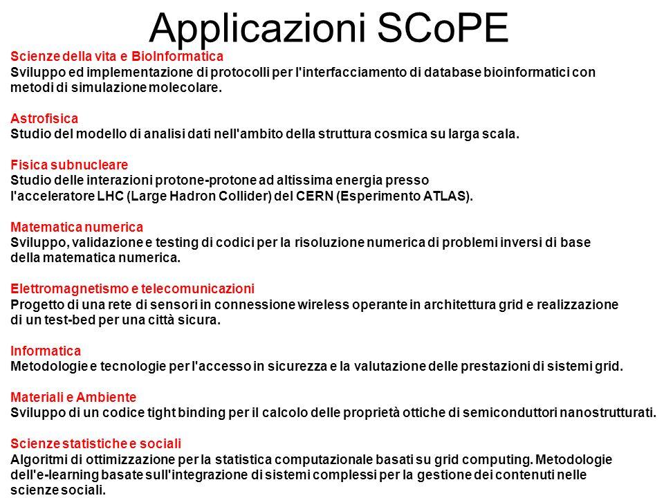 Applicazioni SCoPE Scienze della vita e BioInformatica Sviluppo ed implementazione di protocolli per l'interfacciamento di database bioinformatici con