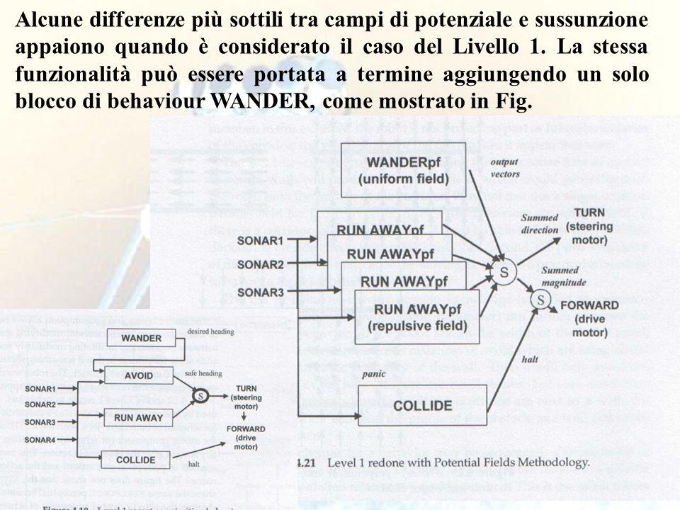 113 Alcune differenze più sottili tra campi di potenziale e sussunzione appaiono quando è considerato il caso del Livello 1.
